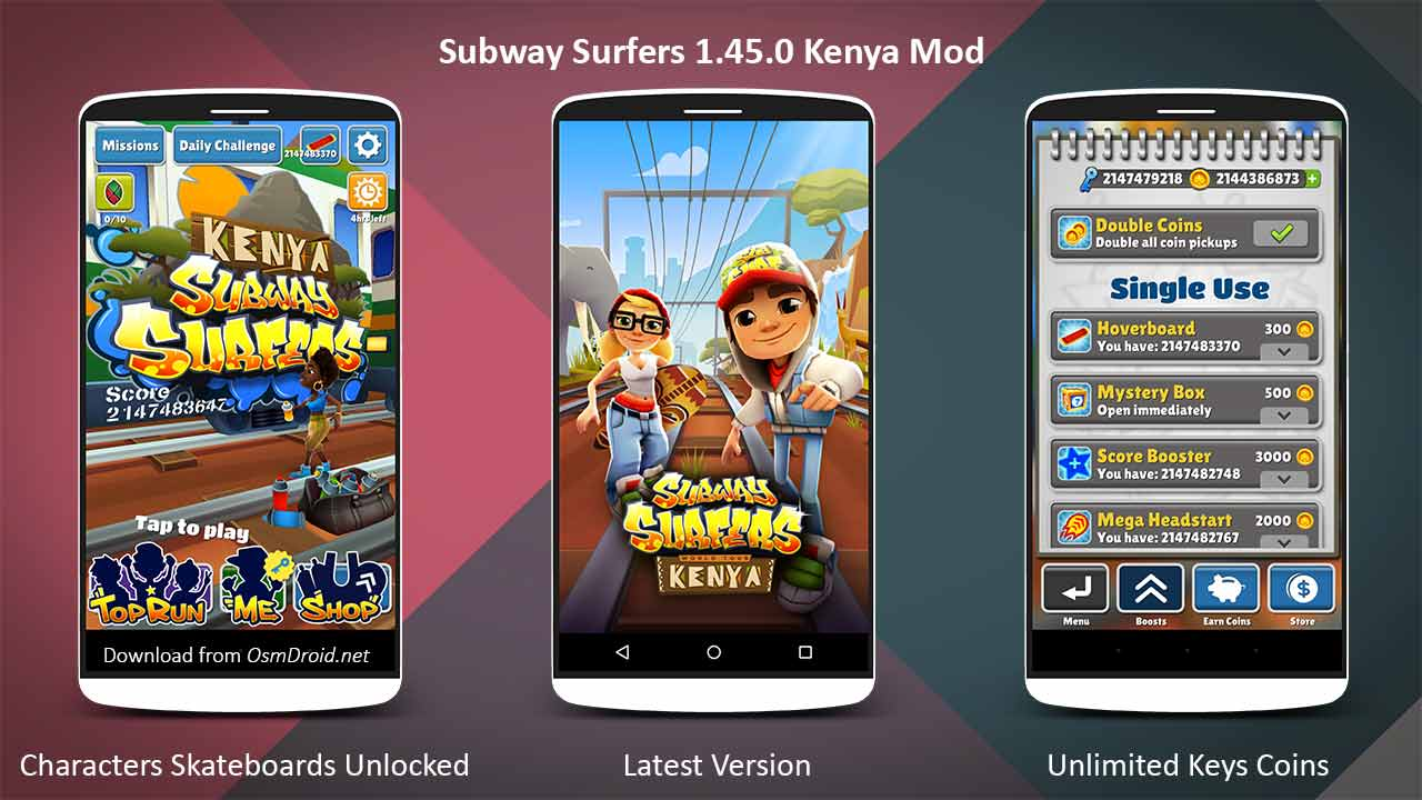 subway surfers unlimited coins and unlimited keys (cracked )