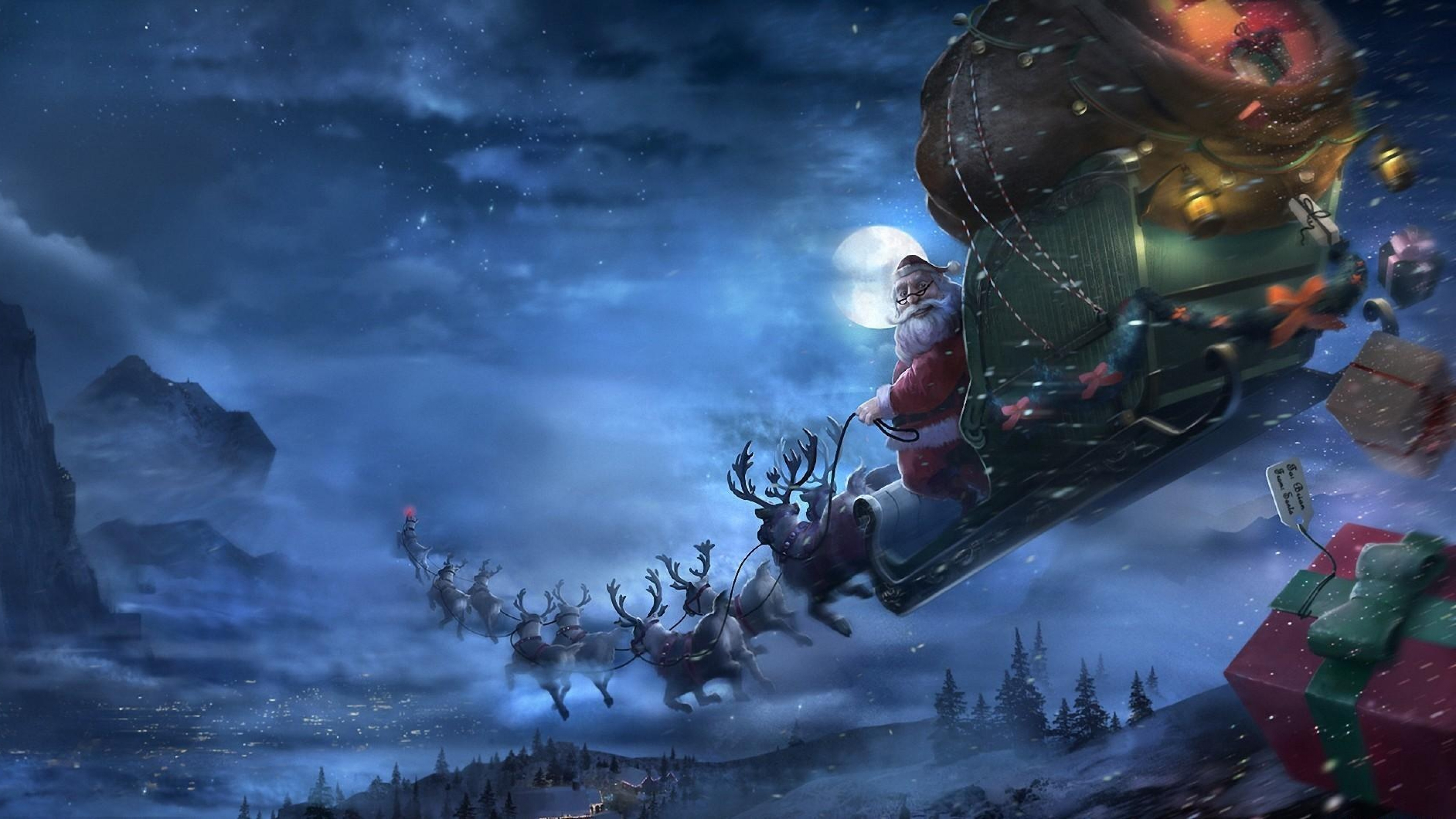top 10 christmas backgrounds - photo #48