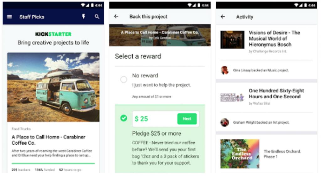Kickstarter   Android Apps on Google Play