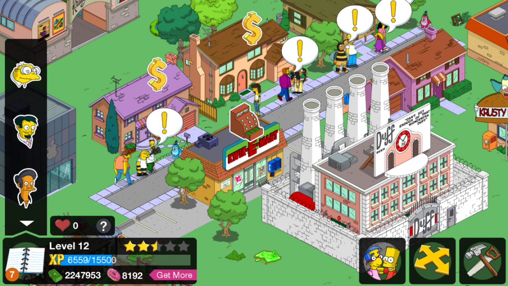The Simpsons: Tapped Out v 4.22.5 Mod APK Unlimited Donuts, coins, XP.