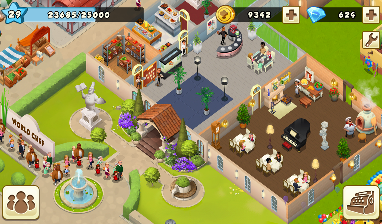world chef mod apk unlimited money and gems