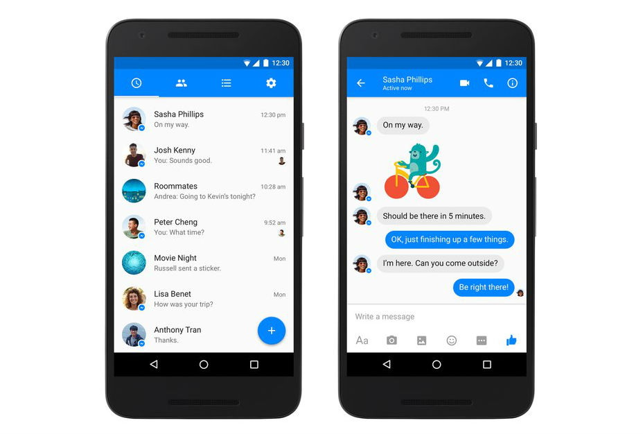 Facebook Messenger 61.0.0.19.80 Apk With Material Design Available.
