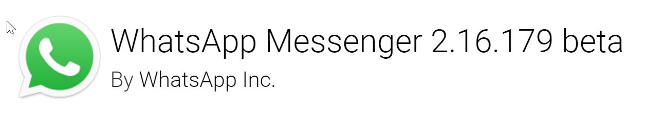 WhatsApp Messenger 2.16.179 beta APK