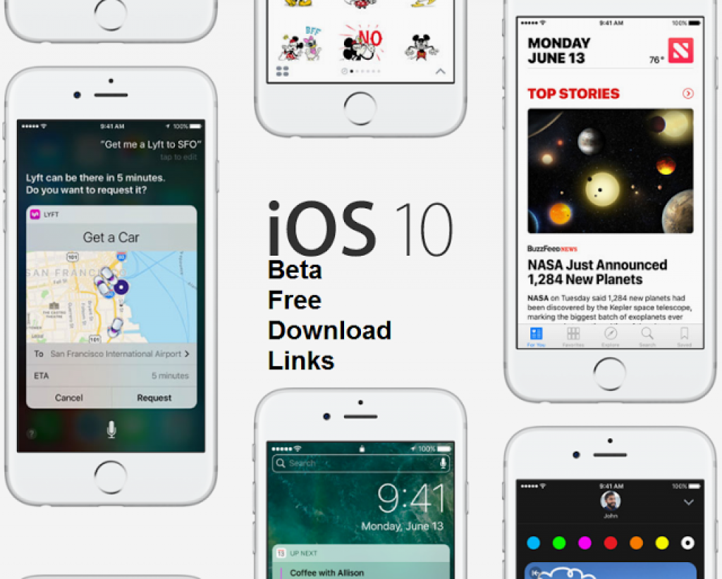 iOS 10 Beta Download Links