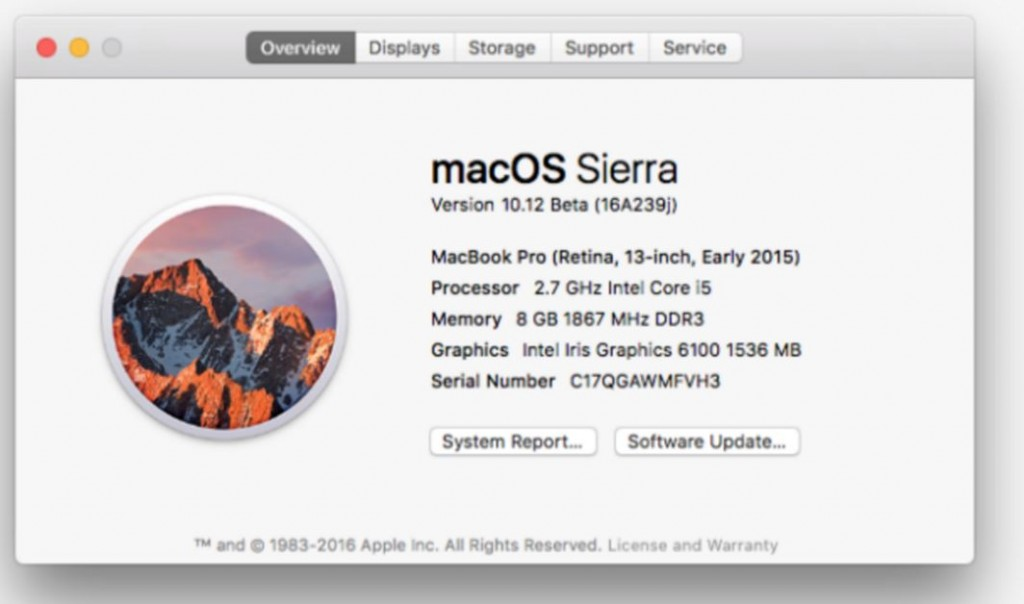 macOS Sierra 10.12 features 1