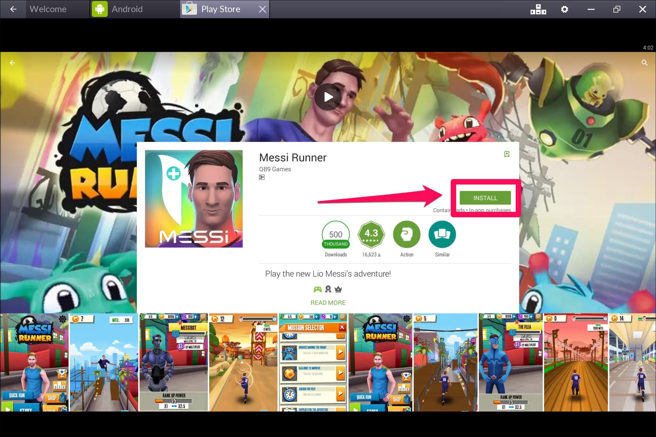 Messi_Runner_For_Windows10_PC
