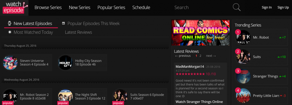 Watch Series TV Shows Online for Free on Android smartphones