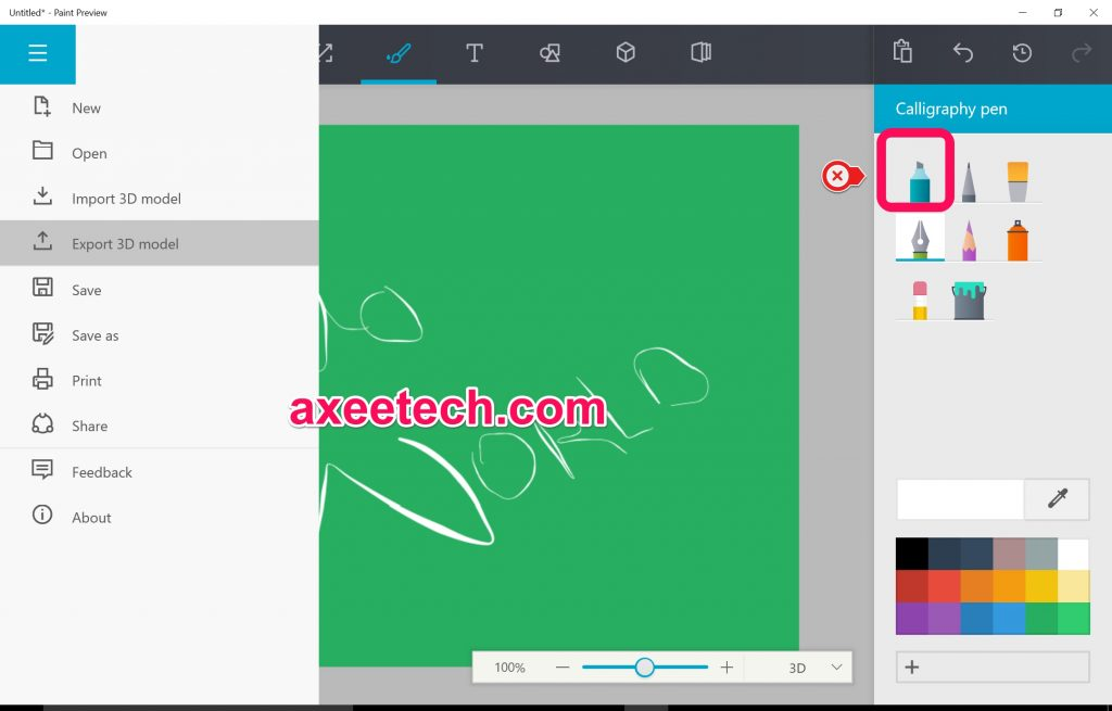 Download Microsoft Paint Preview With 3d Painting Features For Windows 10 Axeetech