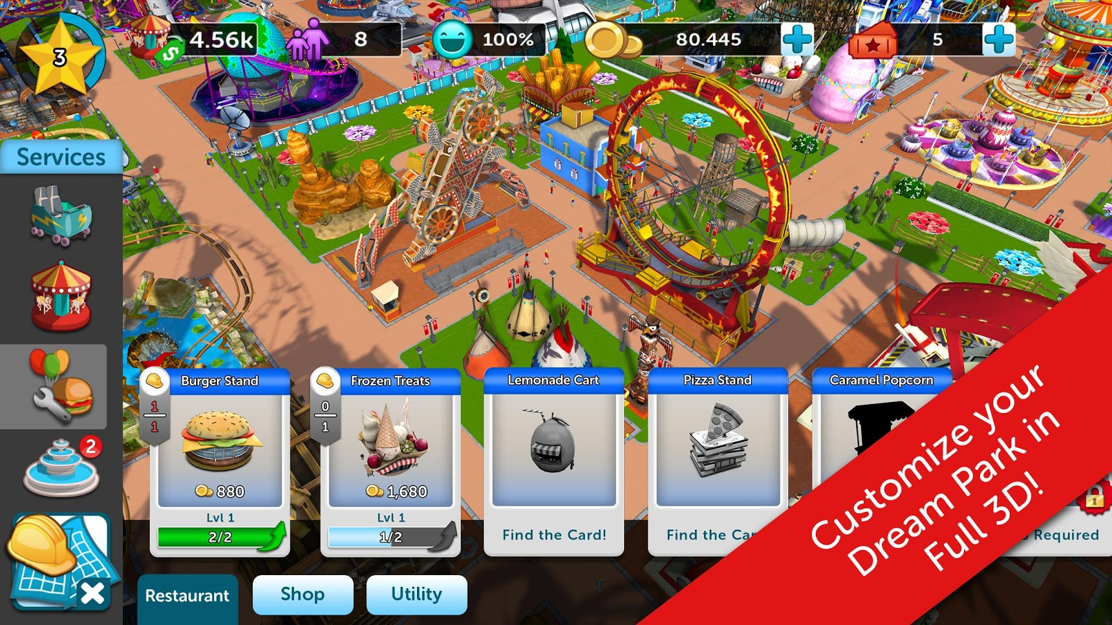 RollerCoaster Tycoon Touch v 1.2.21 Mod Apk with unlimited