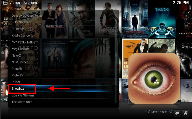 Showbox for Kodi