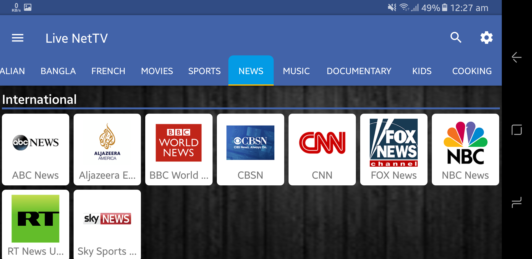 watch tv channels live free android download their