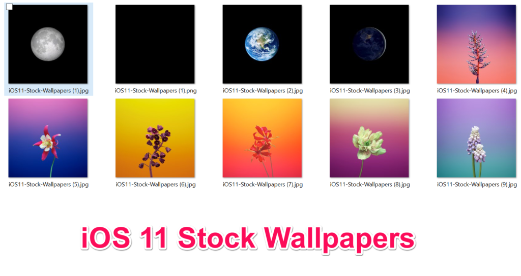IOS 11 Stock Wallpapers GM Leaks