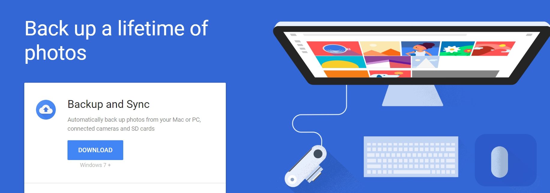 Download Google Backup and Sync desktop client