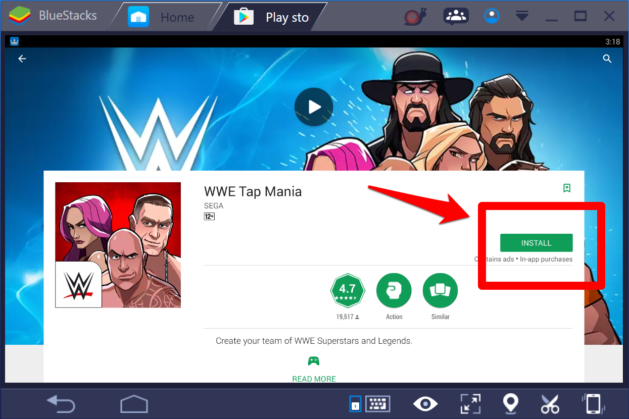 WWE-Tap-mania-Windows-10-PC-2