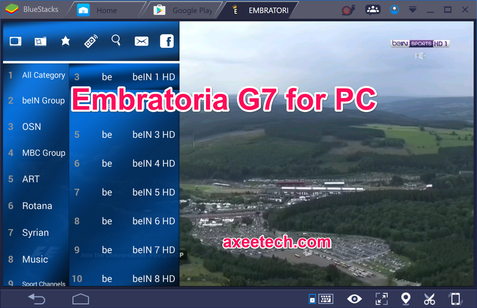 embratoria g7 sur pc