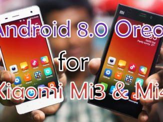 Update Xiaomi Mi3 & Mi4 to Android 8.0 Oreo