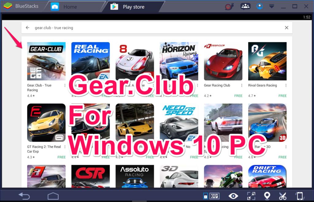 Gear.Club for PC Windows 10