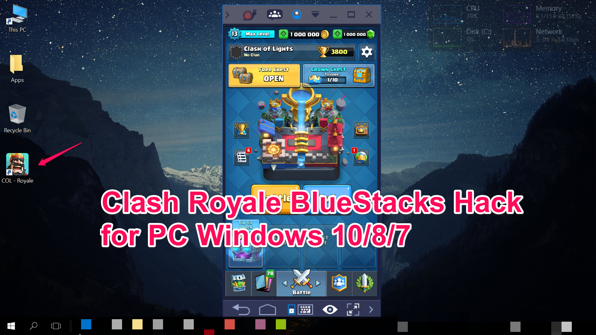 Clash-Royale-Bluestacks-PC-Hack-mod