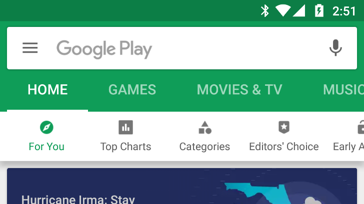 Google Play Store v8.2.36 Apk with new tab bar design [September 2017 version]
