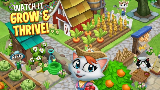 Kitty City Help Cute Cats Build & Harvest Crops mod apk