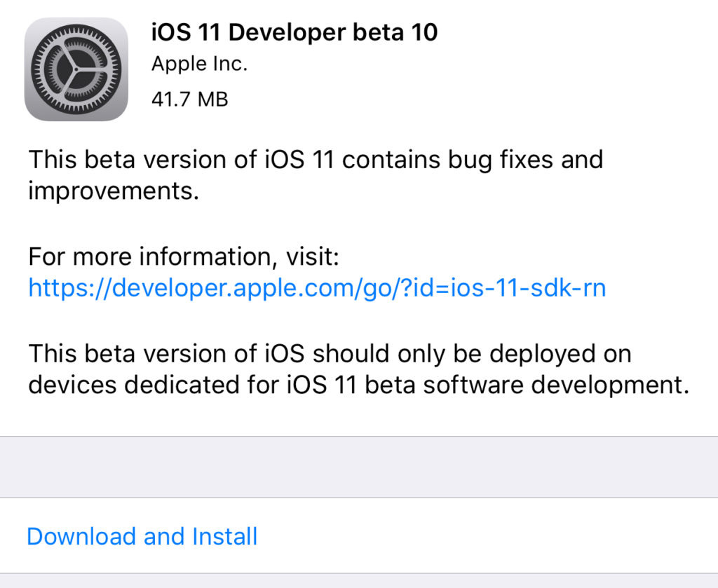 iOS 10 Beta 11 IPSW Files