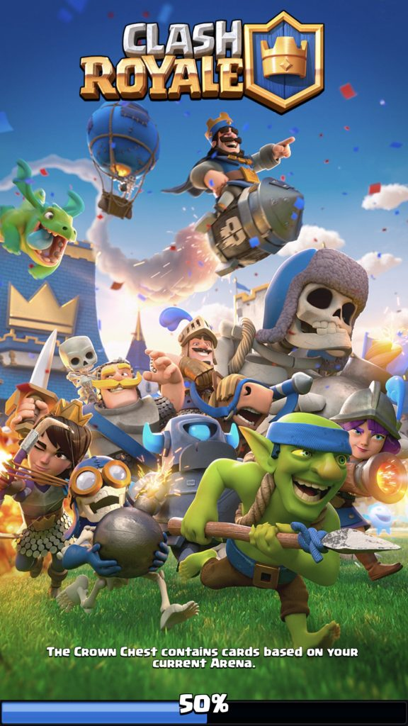 Clash Royale 2.0 start screen