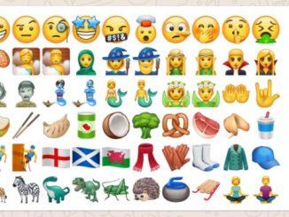 WhatsApp beta new emoji