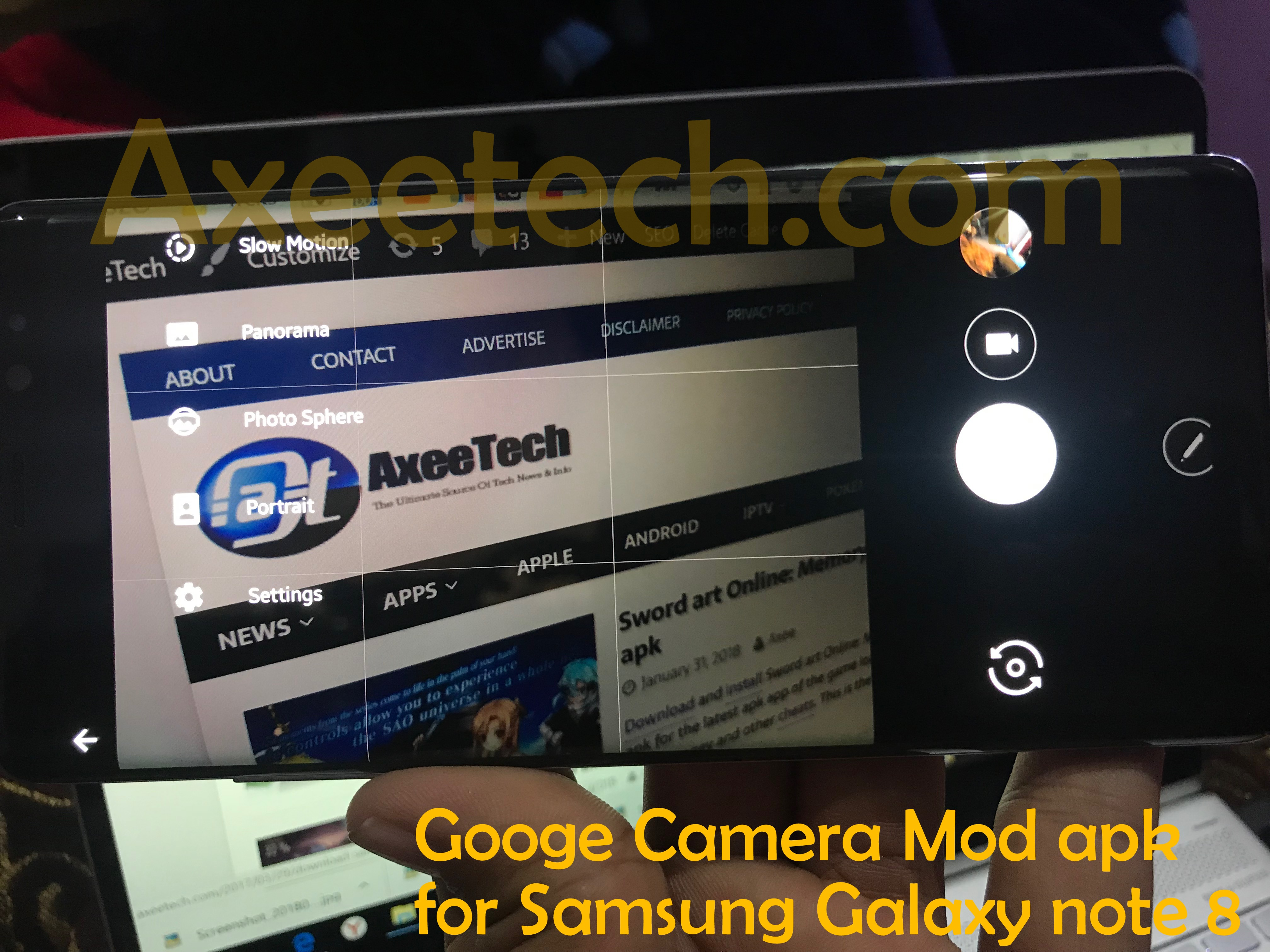Download Google Camera Mod apk ported for Samsung Galaxy Note 8.