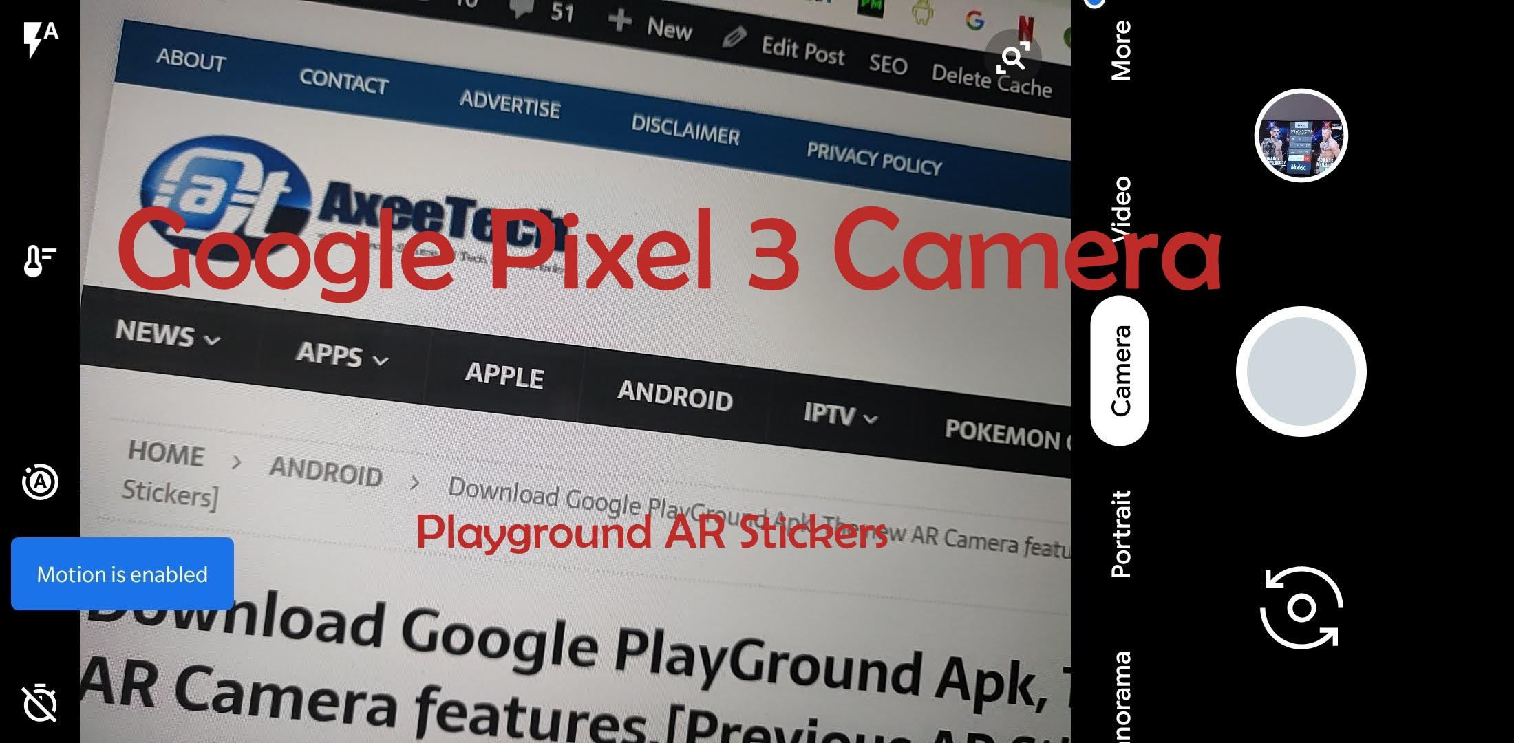 Google-Camera-Mod-Apk-6.1-PlayGround-Stickers