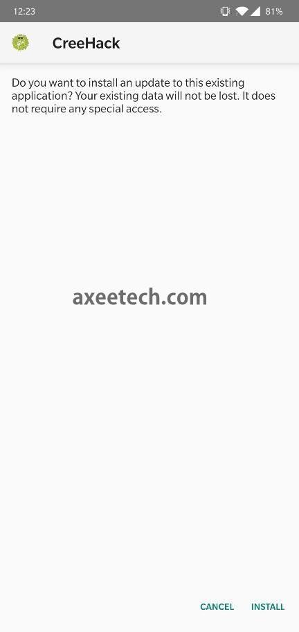 CreeHack-Apk-Install