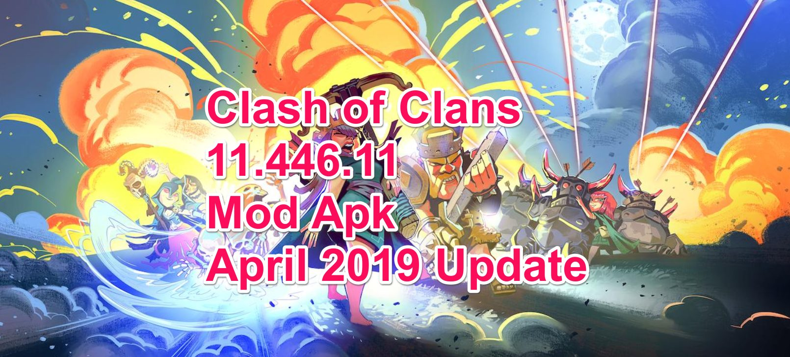 clash of clans mod apk download latest version hack