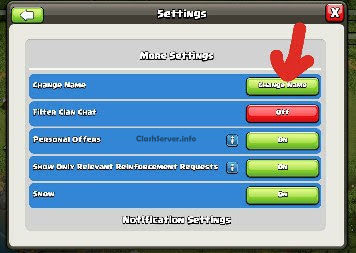 Clash of Clans name Change 2019 guide