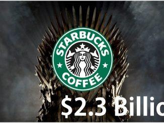 Starbucks coffee in game of Thrones worth $2.3 billion free ads