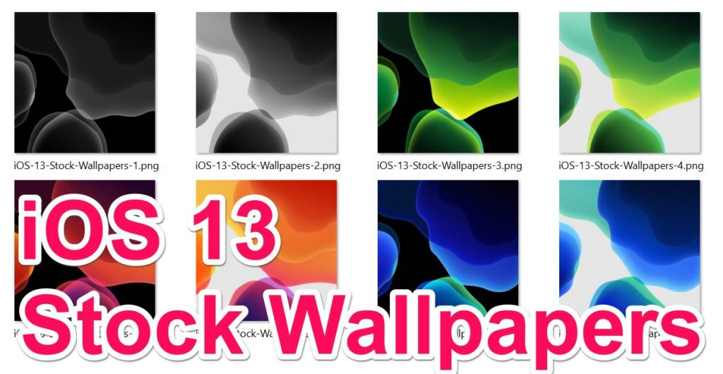 iOS 13 Stock Wallpapers