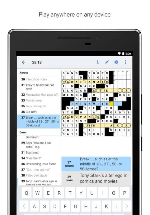 New York Times Crosswords iPhone Downloads
