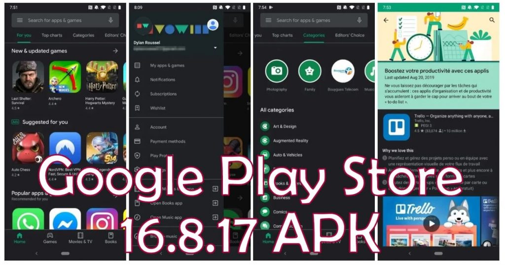 Google Play Store 16.8.17 Apk dark Mode Enabled