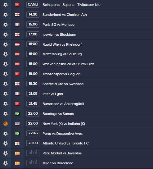 taraftarium 24 apk Channels, Series and Team lists