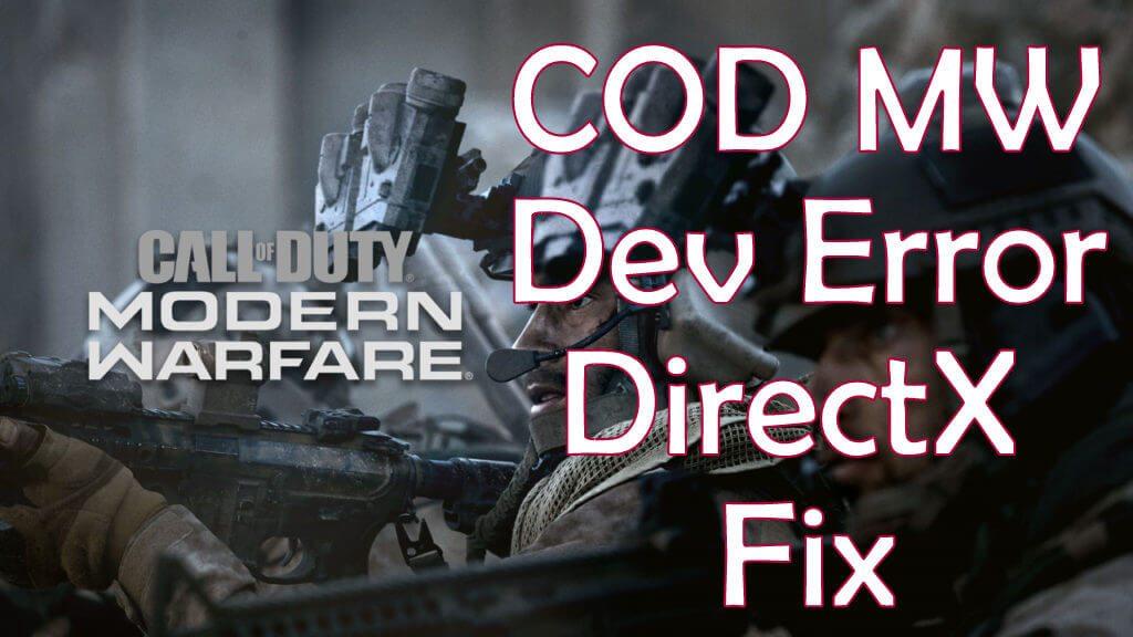 Dev Error 6068 COD MW Fix 2019