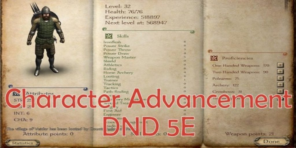 Character Advancement in DND 5E