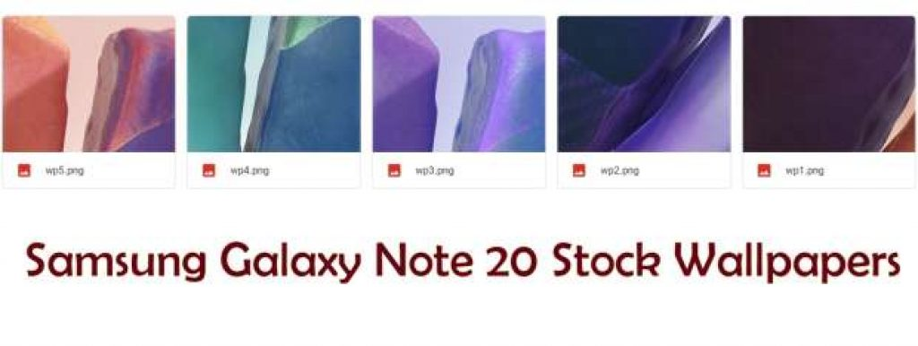 Samsung Galaxy Note 20 Stock Wallpapers download