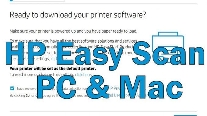HP Easy Scan PC Windows Mac