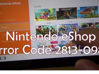 Nintendo eShop Error Code 2813-0988