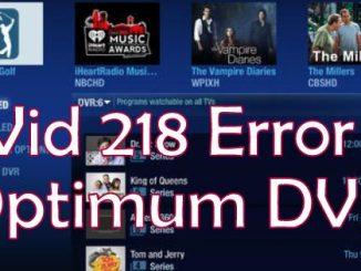 Optimum DVR Vid 218 Error Fix