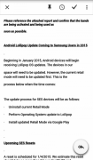 A leak Confirms that Samsung is Planning to Rollout Android Lollipop for Main Devices.