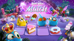 Angry Birds Match v1.0.17 mod apk Unlimited coins, gems and lives.