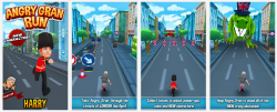 Angry Gran Run – Running Game v1.19.56 Mod Apk, with unlimited coins and gems.