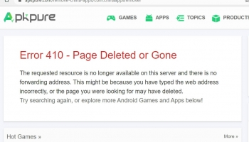 "Apkpure just removes the ""Remove China Apps"" page after posting for short time."