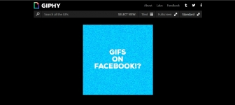 How to post GIF animations on Facebook with the help of Giphy.