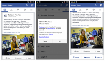 Facebook 4.0 to be updated with the new flat looks.