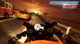 Highway Traffic Rider v1.6.1 Mod Apk with unlimited coins and gas.
